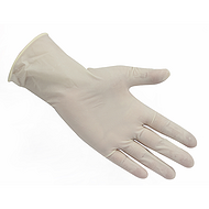 ANSELL 奶油白色天然乳胶限一次性手套,医疗级,0.11mm厚,24 CM 长,粗糙表面
