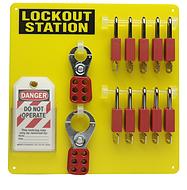 10锁挂板带安全挂锁