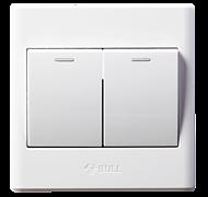 二开单荧光 GN-G06K211Y 面板插座