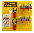 10锁挂板带钢制挂锁