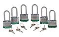 贝迪钢锁,2英寸锁梁,锁芯互异,绿色,6/包