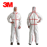 3M 4565白色带帽红色胶条连体防护服XXL20件/箱