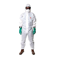 3M 4515白色带帽连体防护服XXL,20件/箱