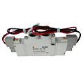 SMC电磁阀,三位五通中封式,直接出线式(300mm),DC24V,SY5320-5GD-01