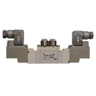 SMC 5通电磁阀,单体直接配管,SY5320-5D-C8
