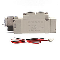 SMC电磁阀,两位五通单电控,L形插座式(300mm),AC220V,SY3120-4LZE-M5