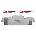 SMC电磁阀,两位五通双电控,L形插座式(300mm),DC24V,SY5220-5L-01F
