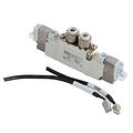 SMC电磁阀,三位五通中封式,L形插座式(300mm),DC24V,SY5320-5LZD-C8