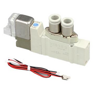 SMC电磁阀,两位五通单电控,L形插座式(300mm),DC24V,SY3120-5LZD-C6