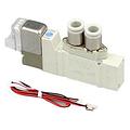 SMC电磁阀,两位五通单电控,L形插座式(300mm),DC24V,SY3120-5LZE-C6