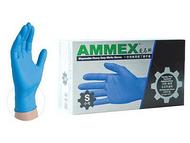 一次性耐用型丁腈手套(深蓝色),无粉,掌麻