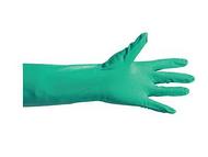 加厚型丁腈手套(绿色),无粉,掌麻