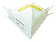 H901 KN95,折叠式口罩,白色,头带式,标准包装,50只/盒,600只/箱